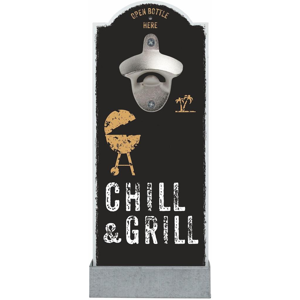 Contento Flaschenöffner »Chill & Grill«, für die Wand