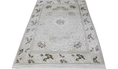 RESITAL The Voice of Carpet Teppich »Lara 350«, rechteckig, 11 mm Höhe, Kurzflor mit Hoch-Tief-Struktur, Wohnzimmer kaufen