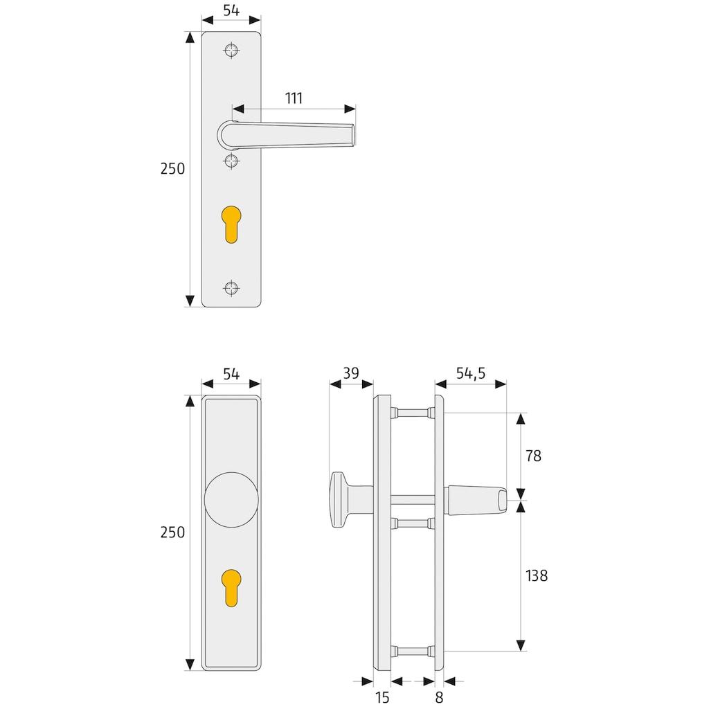 ABUS Schutz-Drückergarnitur »HLS214 F9 EK«, für Haustüren