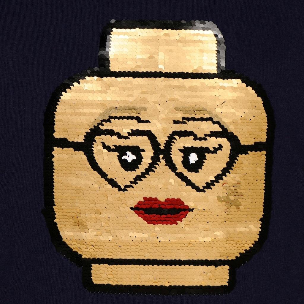 """LEGO® Wear Kurzarmshirt »LWTONE 308«, """"mit LEGO Kopf aus Wendepailletten"""""""