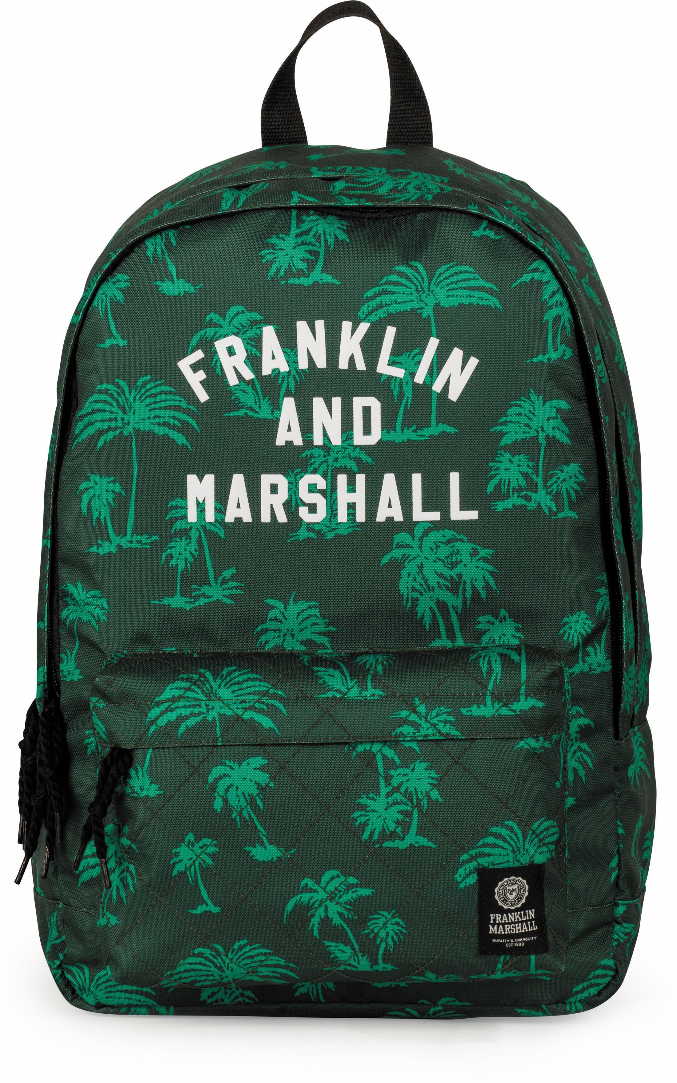 Franklin & Marshall Freizeitrucksack Boys Palmen grün Preisvergleich