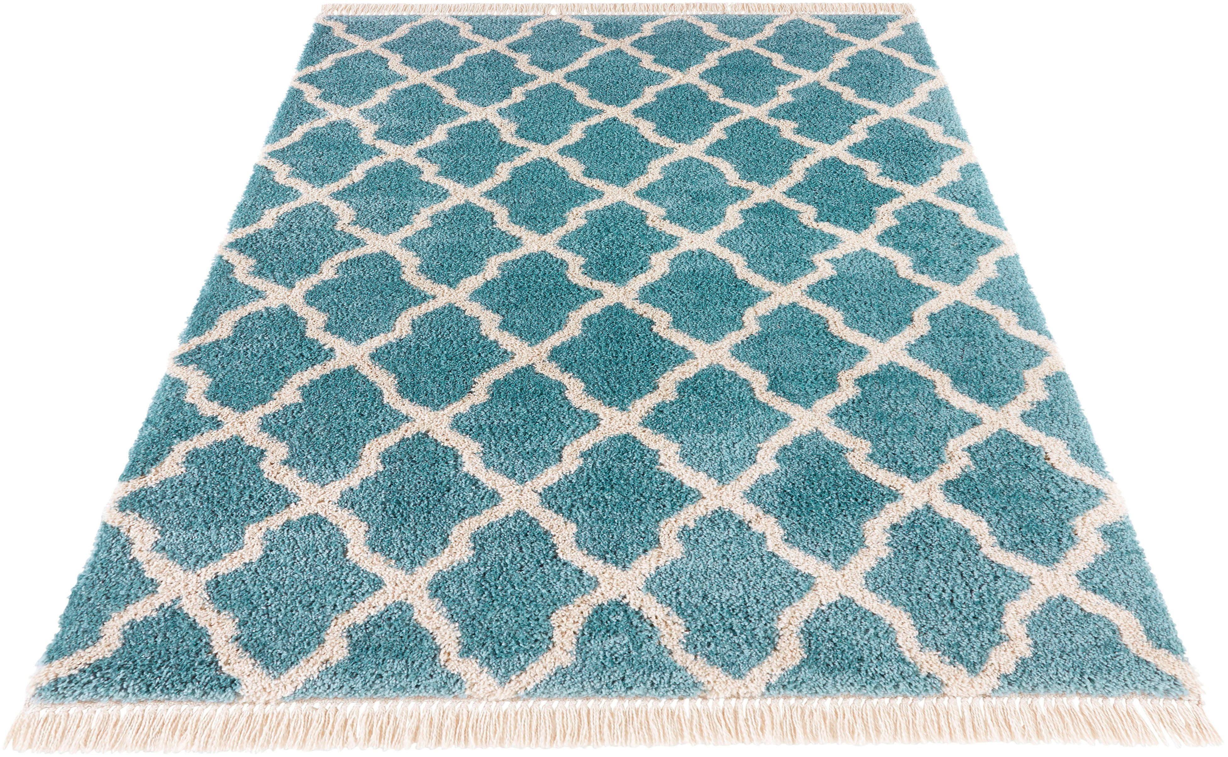 Hochflor-Teppich Pearl MINT RUGS rechteckig Höhe 35 mm maschinell gewebt