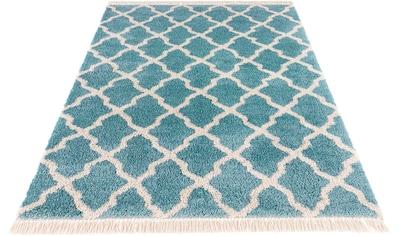 MINT RUGS Hochflor-Teppich »Pearl«, rechteckig, 35 mm Höhe, pastell Farben mit Fransen, Wohnzimmer kaufen
