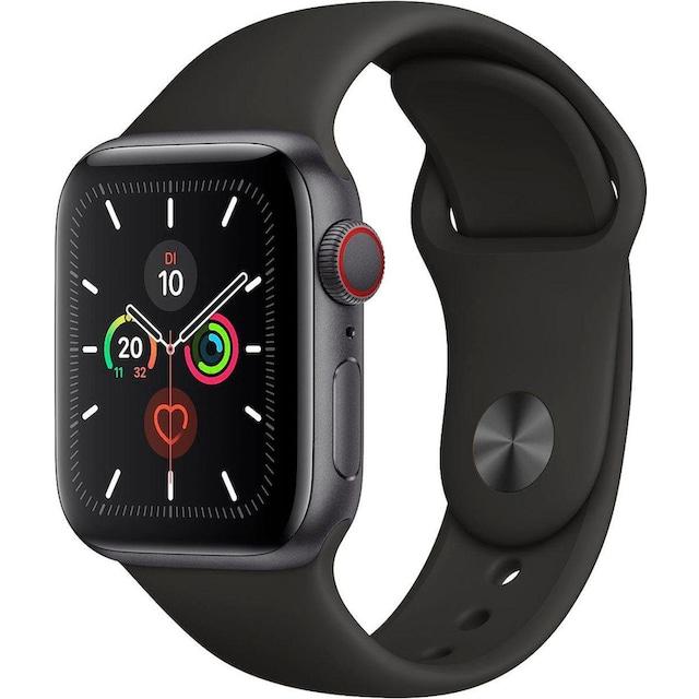 Apple Series 5 GPS + Cellular, Aluminiumgehäuse mit Sportarmband 40mm Watch (Watch OS 6)