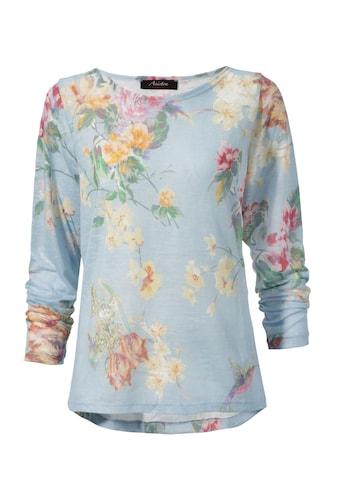 Aniston CASUAL Langarmshirt, mit großflächigem Blumendruck und Vögeln kaufen