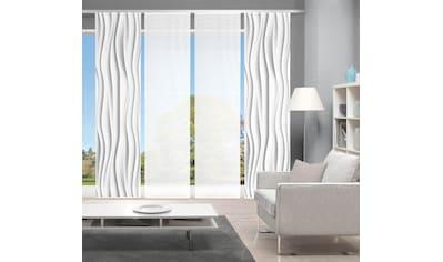 Vision Schiebegardine »WELLO 4er SET«, Bambus-Optik, Digital bedruckt kaufen