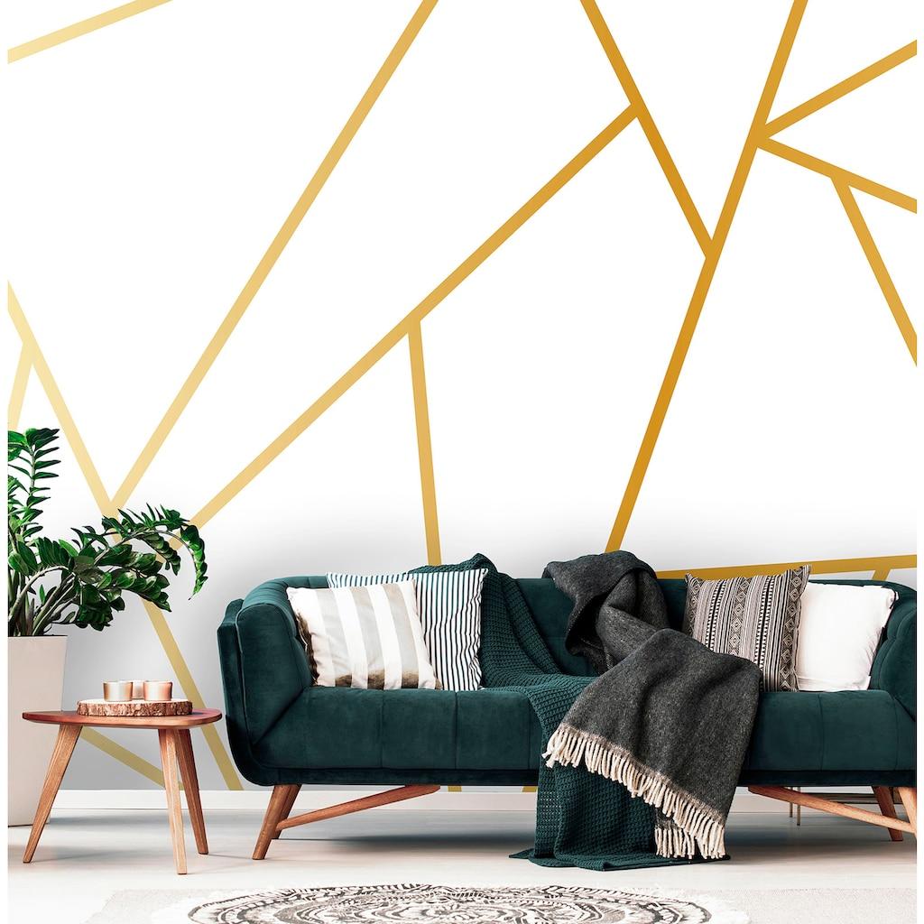 Consalnet Vliestapete »Geom. Figuren/Gold«, geometrisch