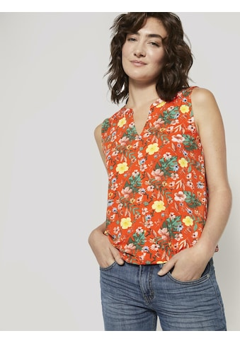TOM TAILOR Kurzarmshirt »Henley-Top mit elastischem Bund« kaufen