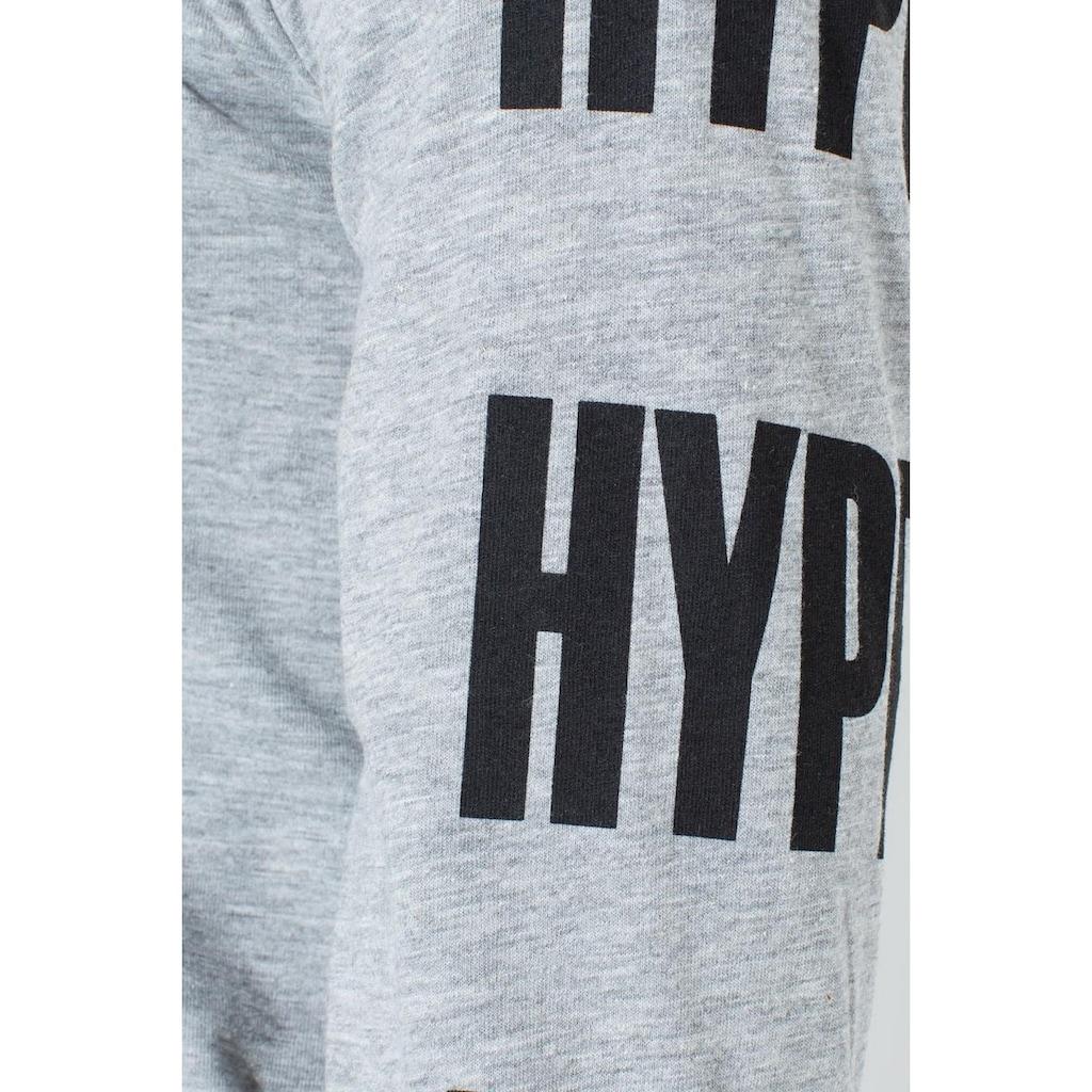 Hype Langarmshirt »Jungen Langarm-T-Shirt mit Logo-Schriftzug-Ärmeln«