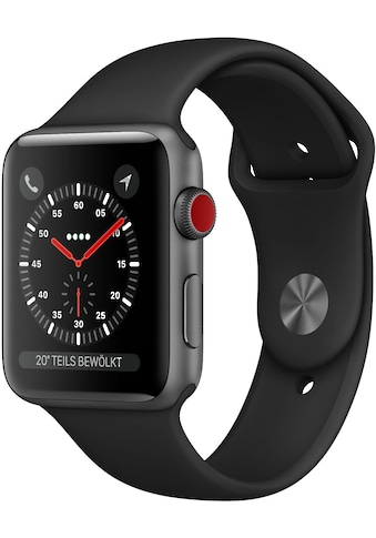Apple Series 3 GPS + Cellular, Aluminiumgehäuse mit Sportarmband 38mm Watch (Watch OS 5) kaufen