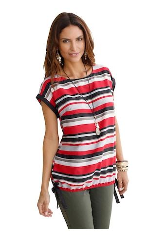 Classic Inspirationen Bluse mit kontrastfarbenen Bindebändern kaufen