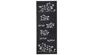 Fußmatte Bring Glück herein Glücksschwein, waschbar kaufen