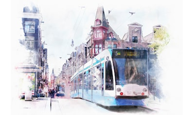 queence Leinwandbild »Straßenbahn« kaufen