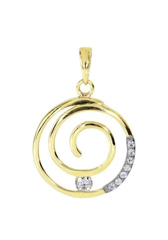 OSTSEE-SCHMUCK Kettenanhänger »- Spirale - Gold 333/000 - Zirkonia«, (1 tlg.) kaufen