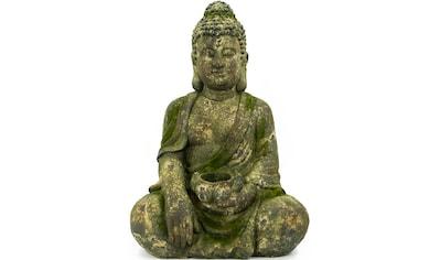 NOOR LIVING Buddhafigur »Buddha, sitzend mit Kerzenhalter« kaufen