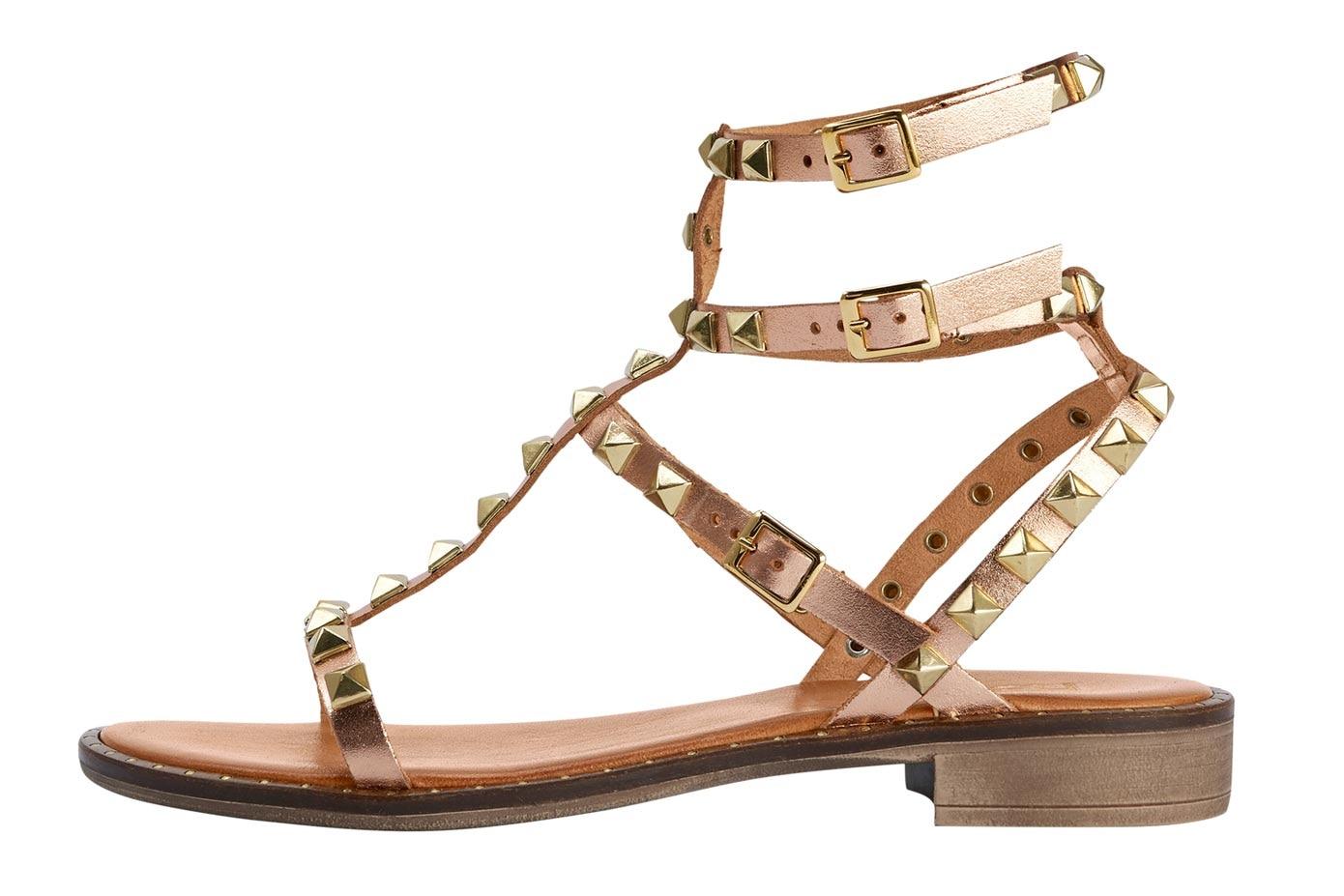 goldfarben Heine Damen Sandalette