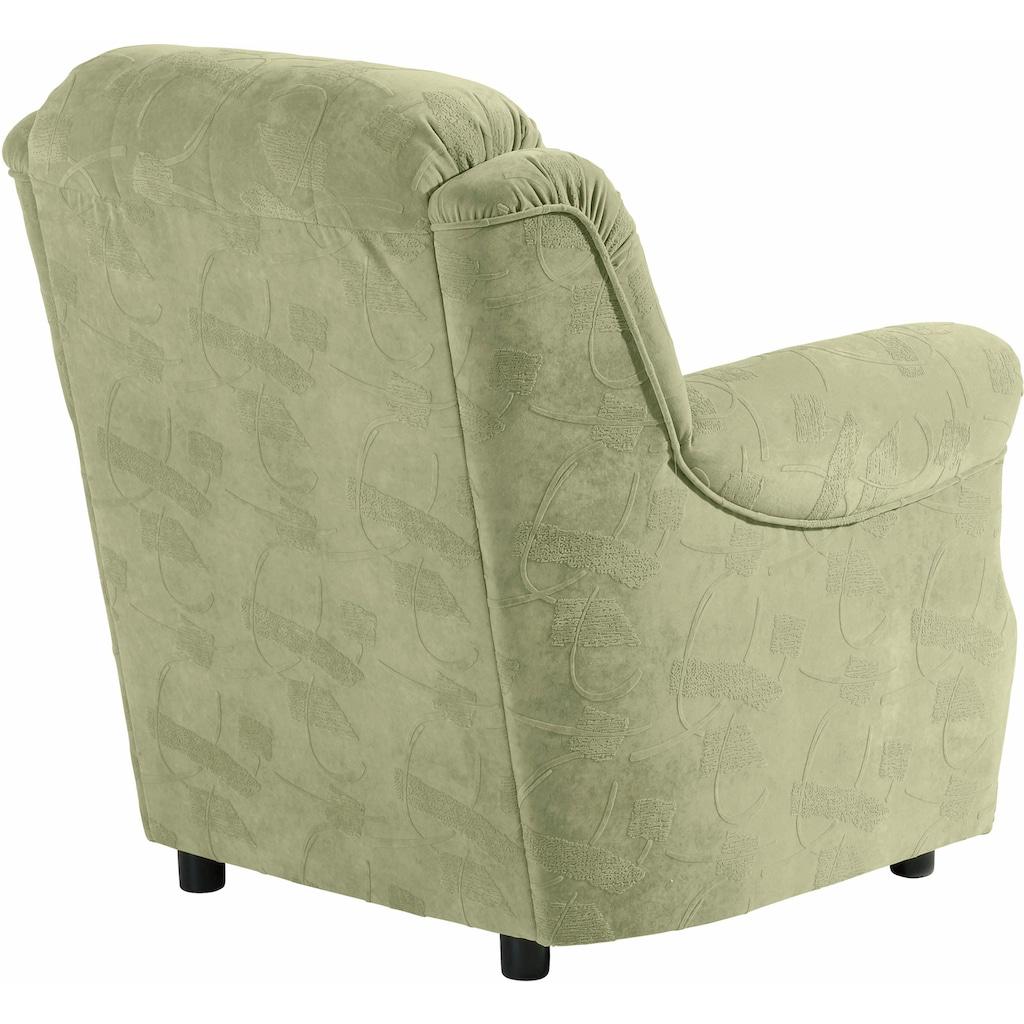 Max Winzer® Sessel »Manhattan«, im Reliefsamt