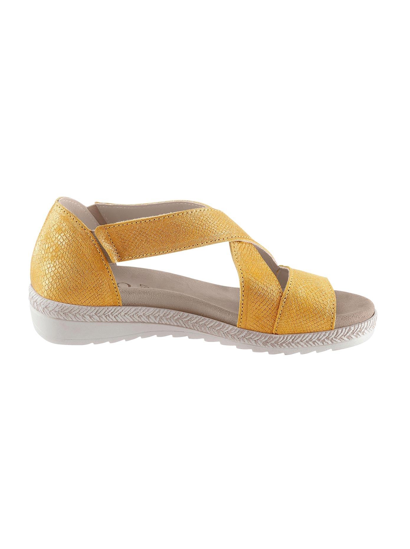 Aco Sandalette gelb Damen Sandaletten Sandalen