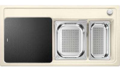 BLANCO Granitspüle »ZENAR XL 6 S DampfgarPlus«, aus SILGRANIT®, benötigte Unterschrankbreite: 60 cm kaufen