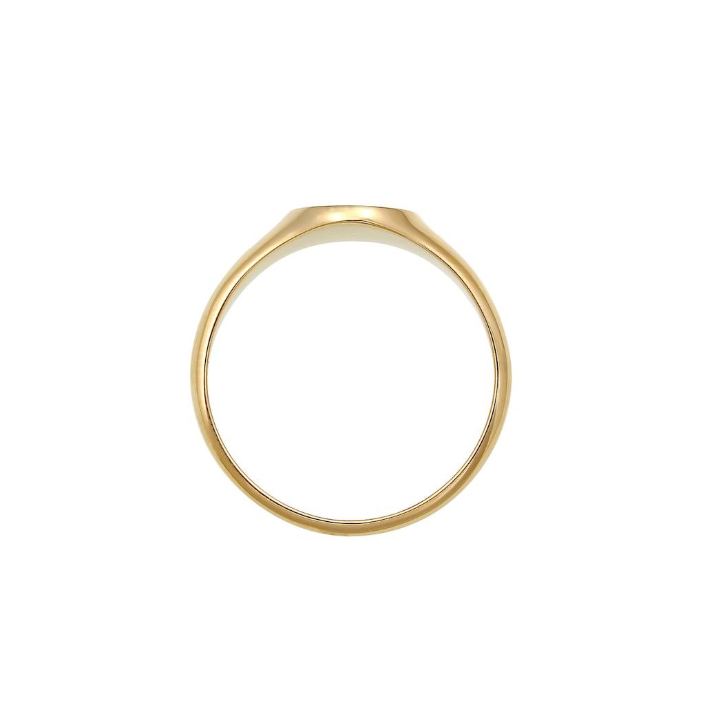 Elli Siegelring »Siegelring Royal Geo Basic Stilvoll 375 Gelbgold«