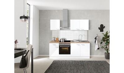 OPTIFIT Küchenzeile »Iver«, 210 cm breit, inkl. Elektrogeräte der Marke HANSEATIC, wahlweise mit oder ohne vollintegrierbaren Geschirrspüler, extra kurze Lieferzeit kaufen