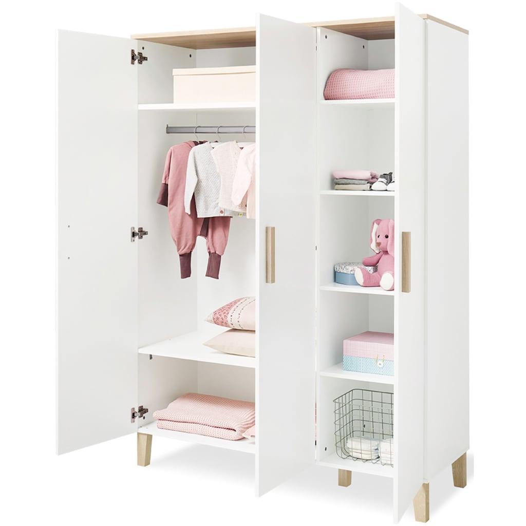 Pinolino® Babyzimmer-Komplettset »Lumi«, (Set, 3 St.), breit groß; mit Kinderbett, Schrank und Wickelkommode; Made in Europe