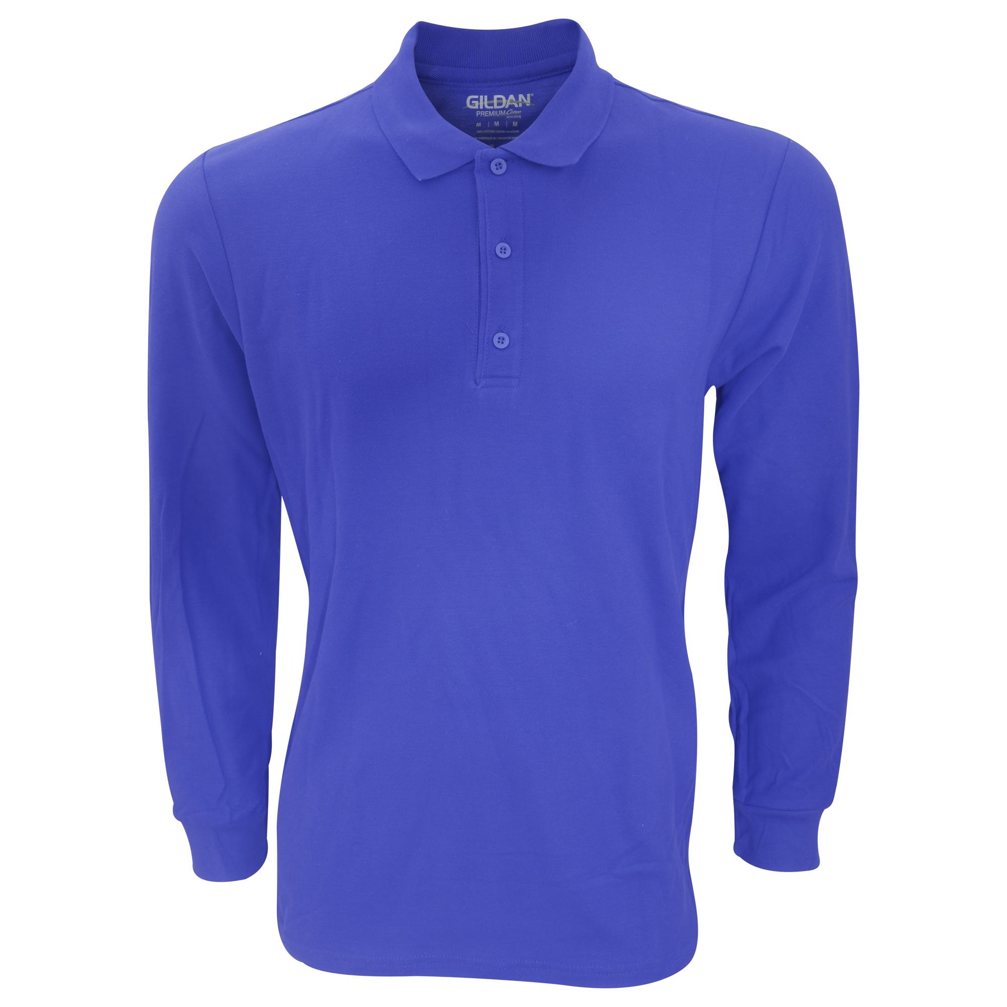 gildan -  Poloshirt Herren Premium Pique Polo-Hemd langärmlig