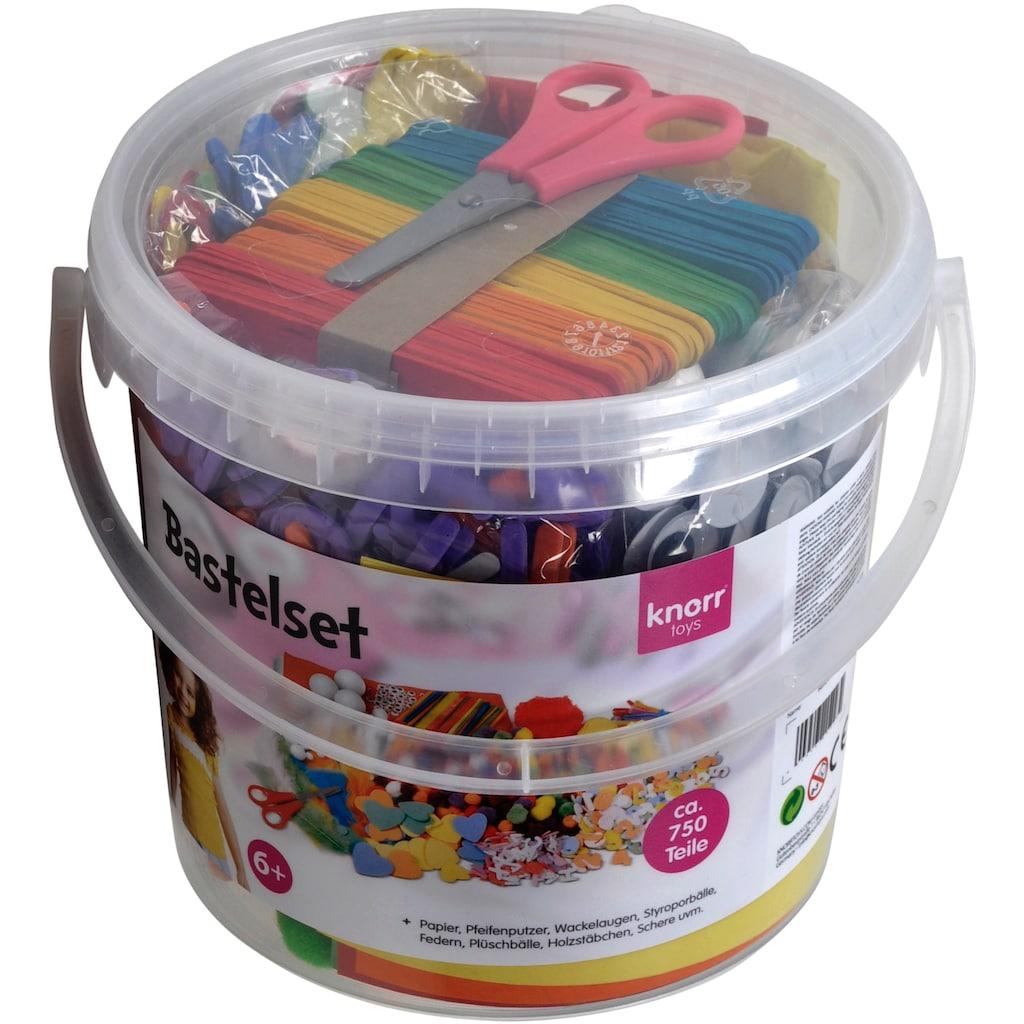 Knorrtoys® Kreativset »Bastelset Eimer (750tlg.)«, (Set), Leicht zu transportieren