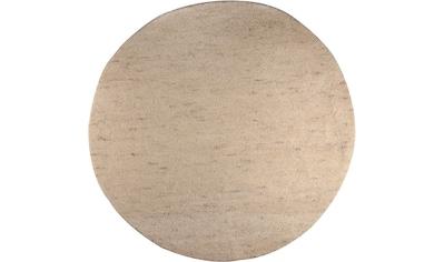 THEKO Wollteppich »Hadj Uni«, rund, 25 mm Höhe, echter Berber, reine Wolle, handgeknüpft, Wohnzimmer kaufen