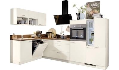 Express Küchen Winkelküche »Scafa«, mit E-Geräten, vormontiert, mit Vollauszügen und... kaufen