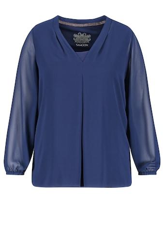 Samoon V - Shirt »Chiffonbluse mit integriertem Top« kaufen