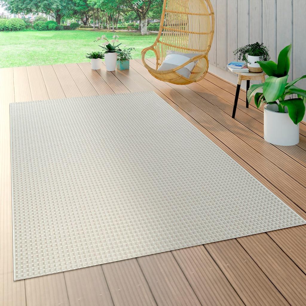 Paco Home Teppich »Waregem 622«, rechteckig, 5 mm Höhe, In- und Outdoor geeignet, Wohnzimmer