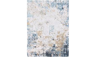 carpetfine Teppich »Living«, rechteckig, 5 mm Höhe, Vintage Look, Viskose in Seidenoptik, Wohnzimmer kaufen