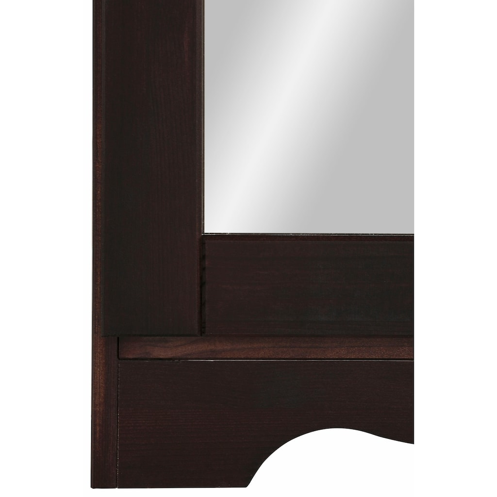 Home affaire Schuhschrank »Minik«, aus massiver Kiefer mit Spiegeltür