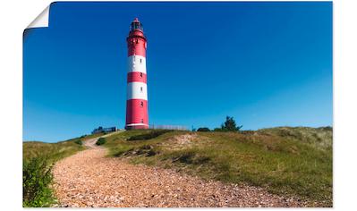 Artland Wandbild »Weg zum Leuchtturm - Insel Amrum«, Gebäude, (1 St.), in vielen... kaufen
