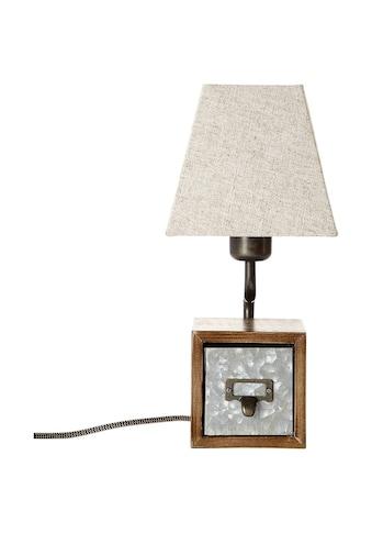Brilliant Leuchten Tischleuchte »Casket«, E27, 1 St., Tischlampe zink antik/beige kaufen