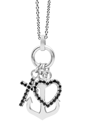 NANA KAY Kette mit Anhänger »Love Catcher, Glaube/Liebe/Hoffnung, ST1540«, mit Zirkonia kaufen