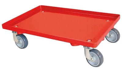 Transportroller, BxT: 60x40 cm, mit 4 Lenkrollen und grauen Gummirädern, Tragkraft 250... kaufen