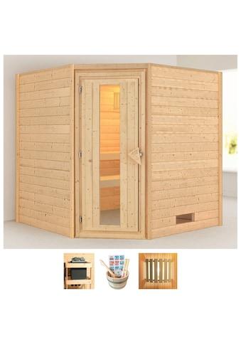 KARIBU Sauna »Nina«, 196x196x198 cm, ohne Ofen, Energiespartür kaufen