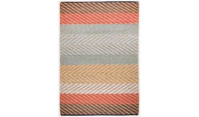 TOM TAILOR Teppich »Pastel Stripe«, rechteckig, 7 mm Höhe, Flachgewebe, handgewebt,... kaufen