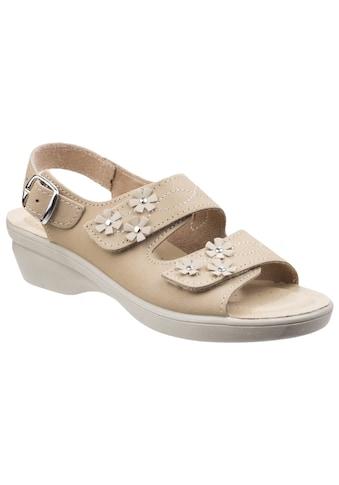 Fleet & Foster Sandale »Damen Leder- Amaretto mit Klettverschluss« kaufen
