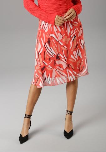 Aniston SELECTED Sommerrock, im modischen Druck - NEUE KOLLEKTION kaufen