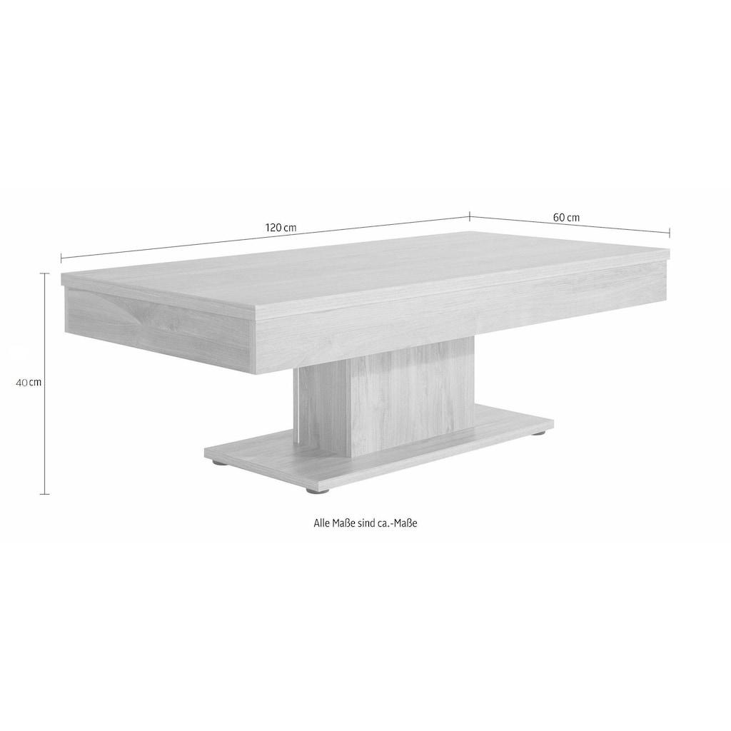 Couchtisch, mit Stauraum, verschiebbare Tischplatte