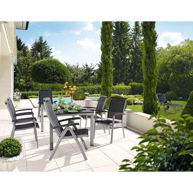SIEGER EXCLUSIV Stuhl »Royal«, Aluminium/Textil, verstellbar