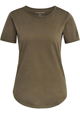 G-Star RAW T-Shirt »Mysid Optic Slim Top C«, mit Rollkante am Halsausschnitt kaufen