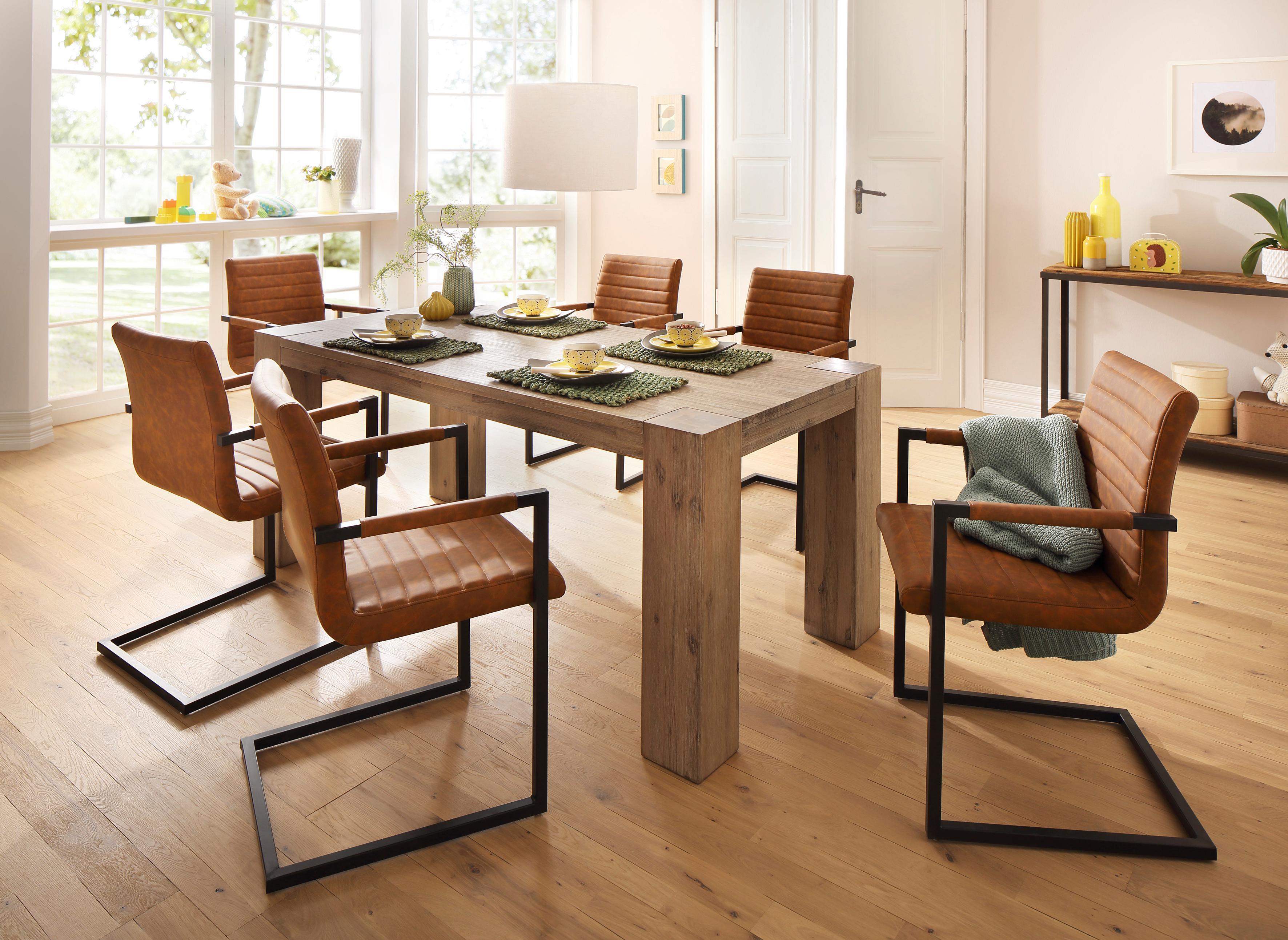 braun-leder Esszimmerstühle online kaufen | Möbel-Suchmaschine ...