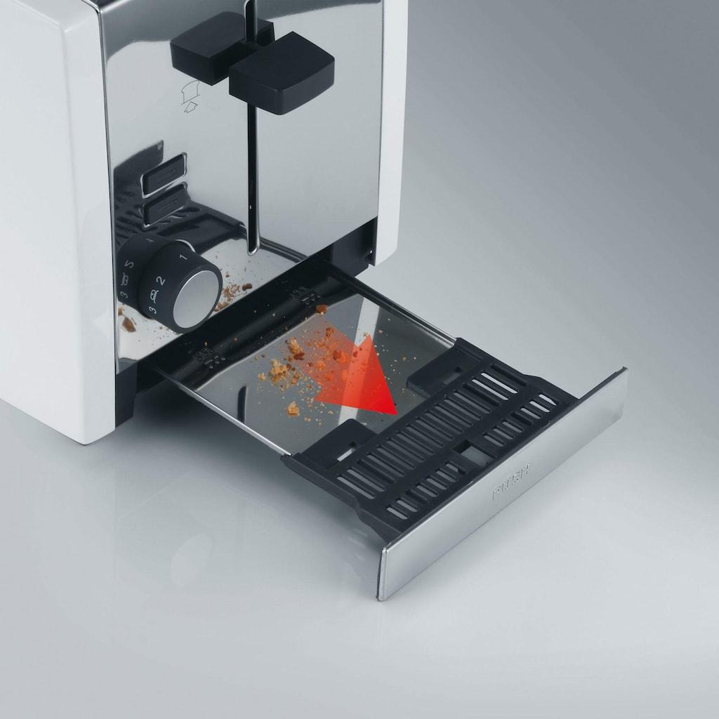 Graef Toaster »TO 101, weiß-matt«, 2 lange Schlitze, für 4 Scheiben, 1380 W
