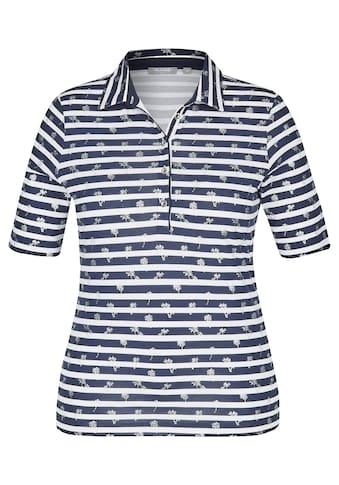 Rabe Polo-Shirt mit Allover-Ringeln und Palmen-Print kaufen