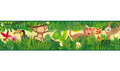 Bordüre »Jungle Friends«, für Baby -  und Kinderzimmer, selbstklebend, PVC - frei kaufen
