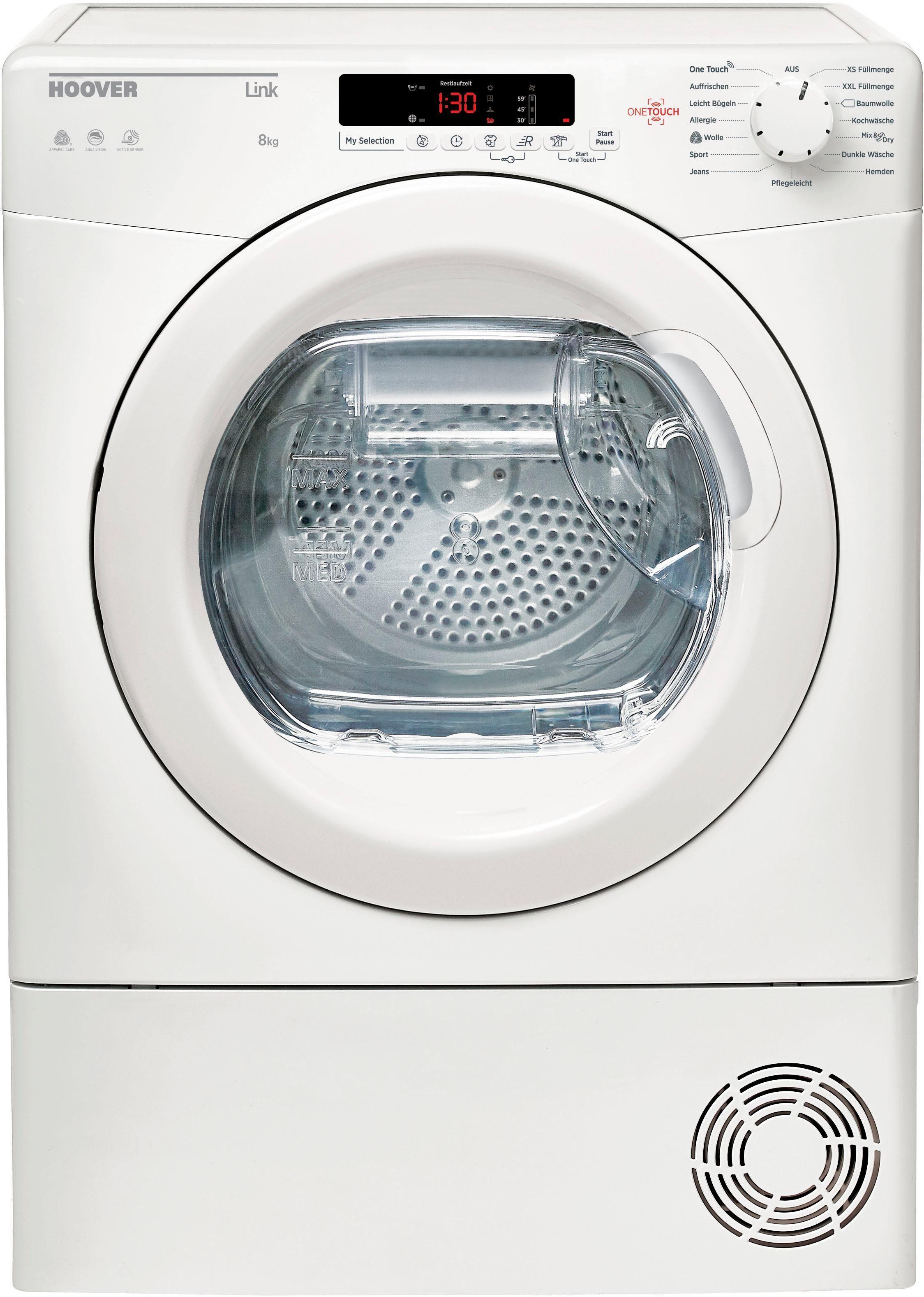 Hoover Kondenstrockner GHLC C8DE-84 8 kg   Bad > Waschmaschinen und Trockner > Kondenstrockner   Weiß   Hoover